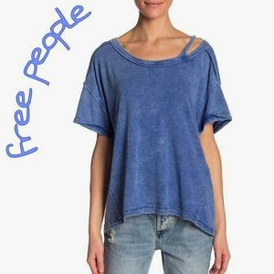 Free People Alex Cold Shoulder Cutout Top Tee